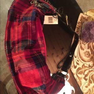 Ralph Lauren Bags - Ralph Lauren red plaid patent leather bag new